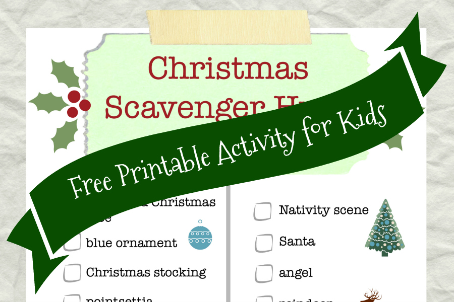 Christmas Scavenger Hunt Printable for Kids from Food Fun Family