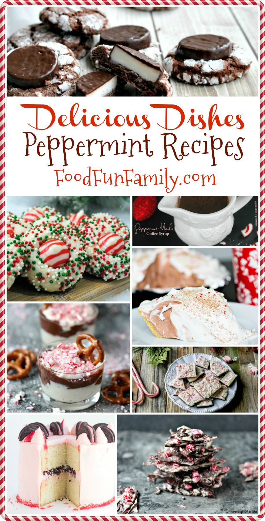A collection of amazing Peppermint recipes, perfect for the holidays! Plus our weekly recipe linky, with all types of recipes to discover and share, from dinners to drinks to appetizers and desserts.