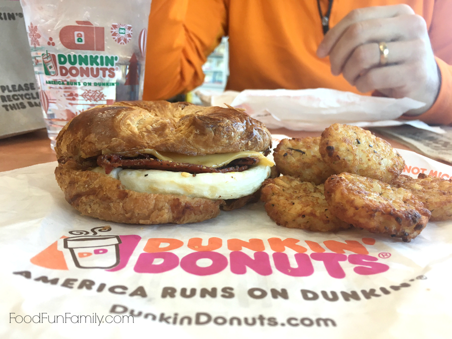 Dunkin' Donuts sweet black pepper bacon breakfast sandwich