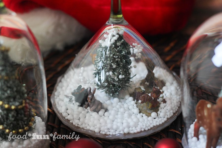 Simple Christmas Cloche Candle Holder craft from Food Fun Family