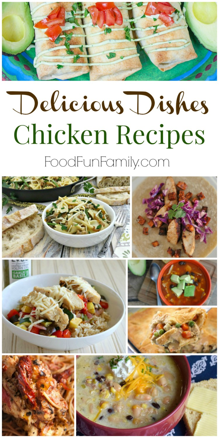 Chicken Recipes that the whole family will love from Delicious Dishes Recipe Party and Food Fun Family