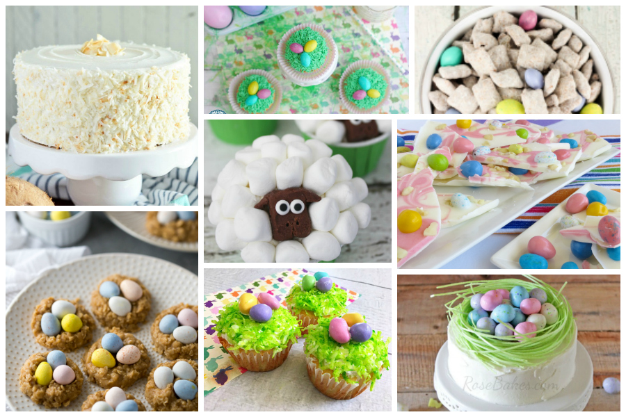Easter desserts from Delicious Dishes recipe party. Sweet treats that are perfect for spring and Easter celebrating