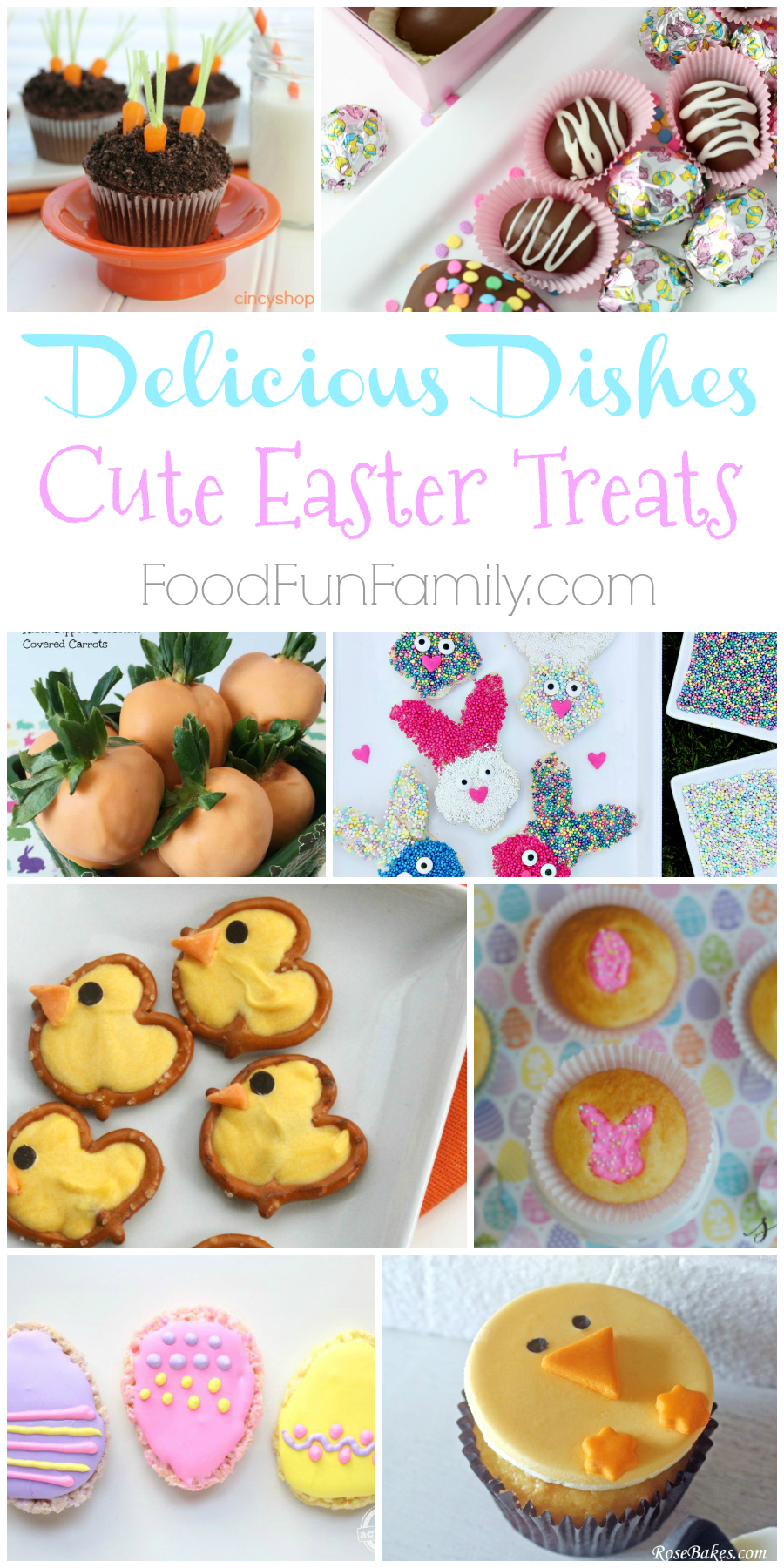 Cute Easter Treats - a Delicious Dishes Recipes Party collection of recipes from dozens of bloggers. Kids and adults alike will love these festive and adorable Easter and Spring treats!