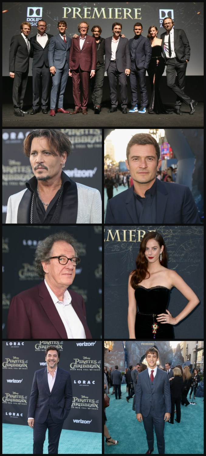 Pirates of the Caribbean Dead Men Tell No Tales Hollywood premiere actors
