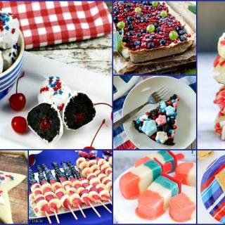 Patriotic treats that are perfect for your 4th of July celebrations! Red, white and blue recipes the whole family will love on July 4th and beyond! A Delicious Dishes Recipe Party