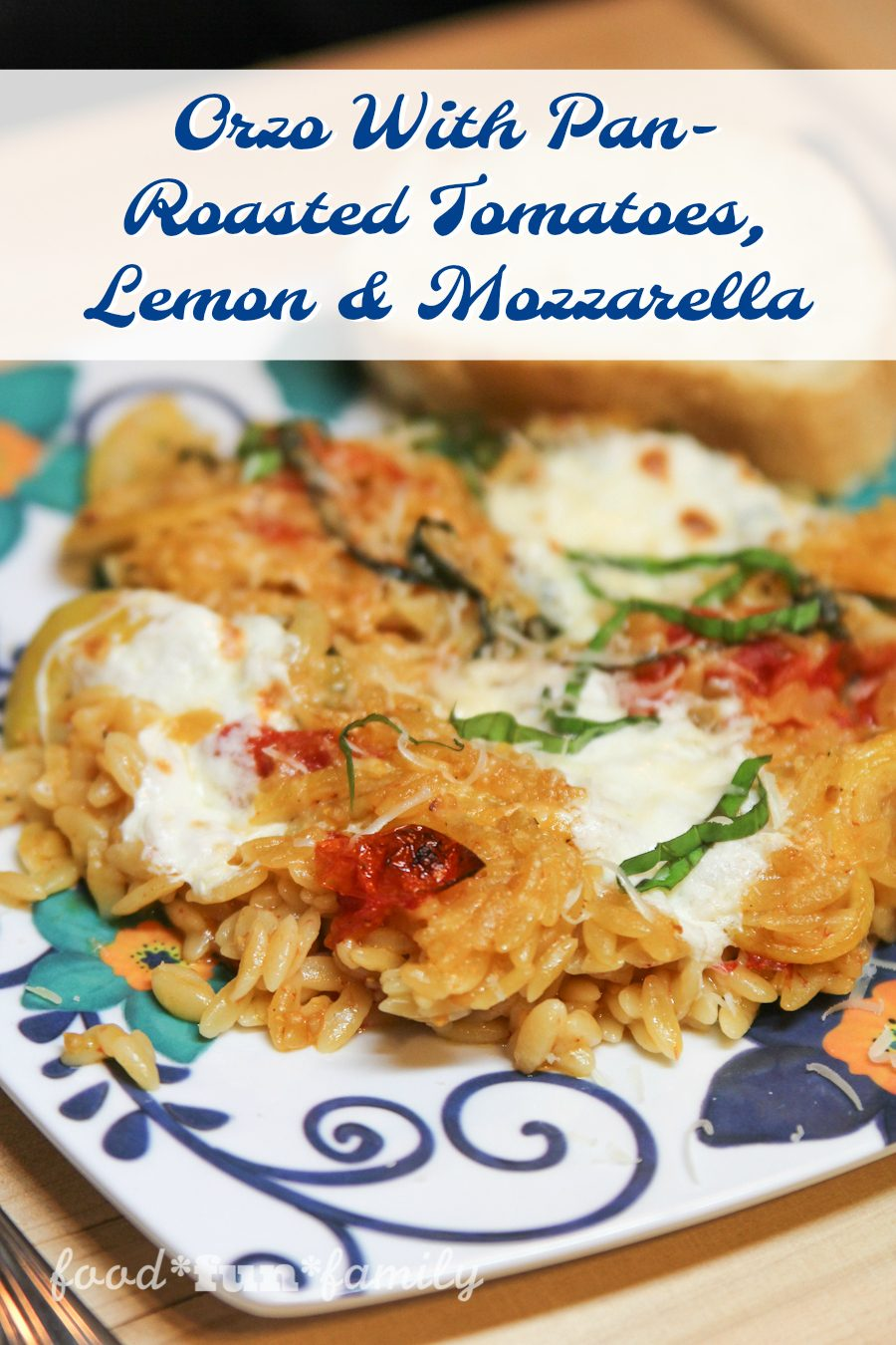 Orzo With Pan-Roasted Tomatoes, Lemon and Mozzarella