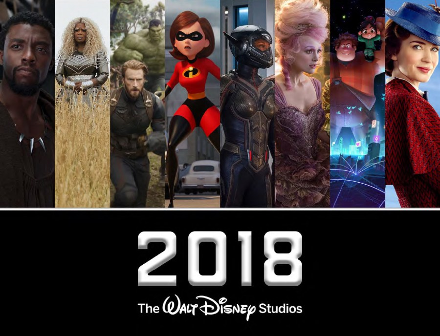 2018 Walt Disney Studios Motion Picture Slate