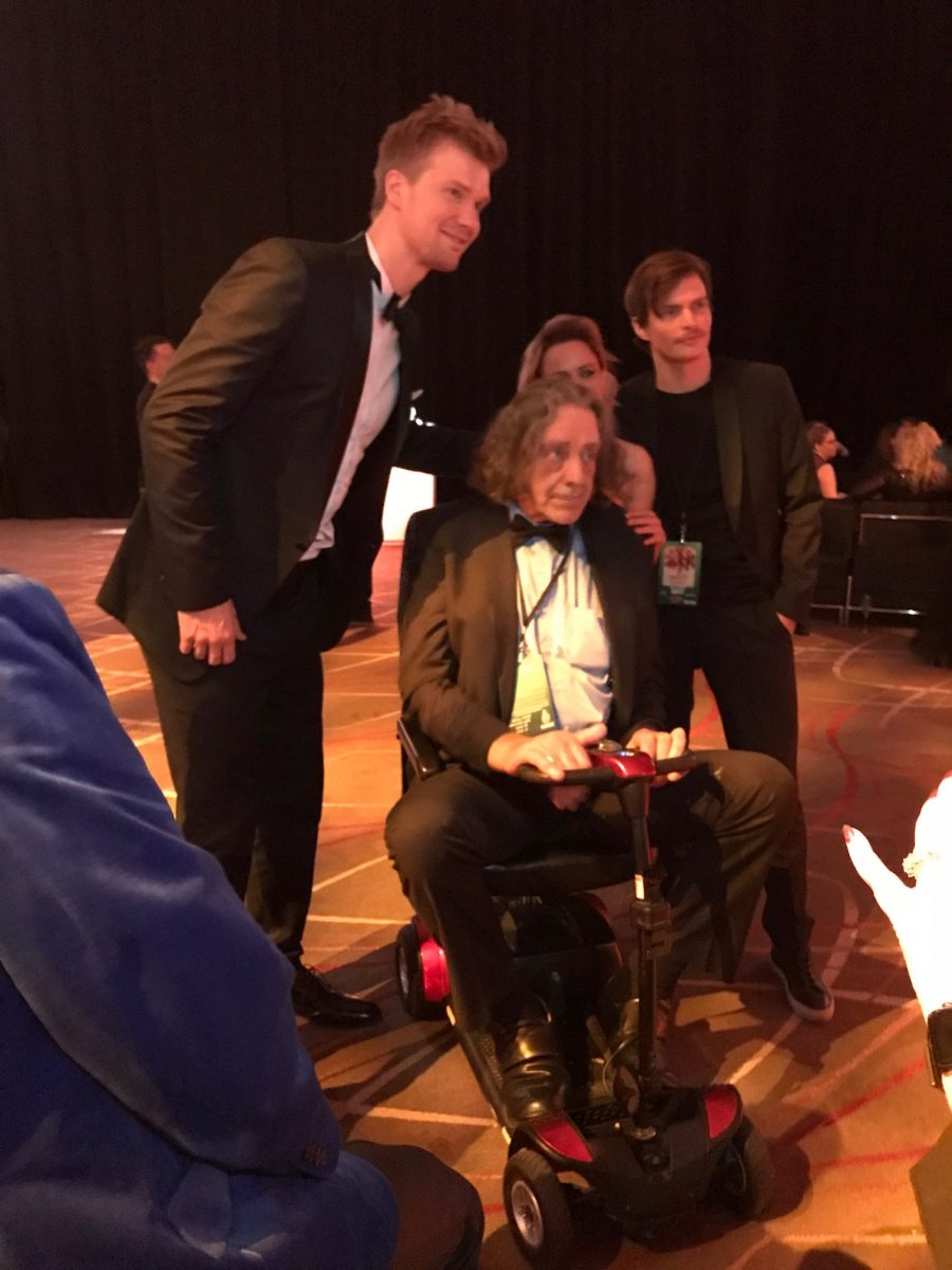 Joonas Suotamo and Peter Mayhew at the SOLO after-party
