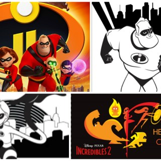 Incredibles 2 Coloring Pages & Activity Sheets