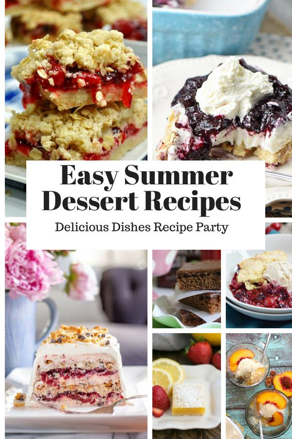 Easy Summer Dessert Recipes - a Delicious Dishes Recipe Party from Food Fun Family