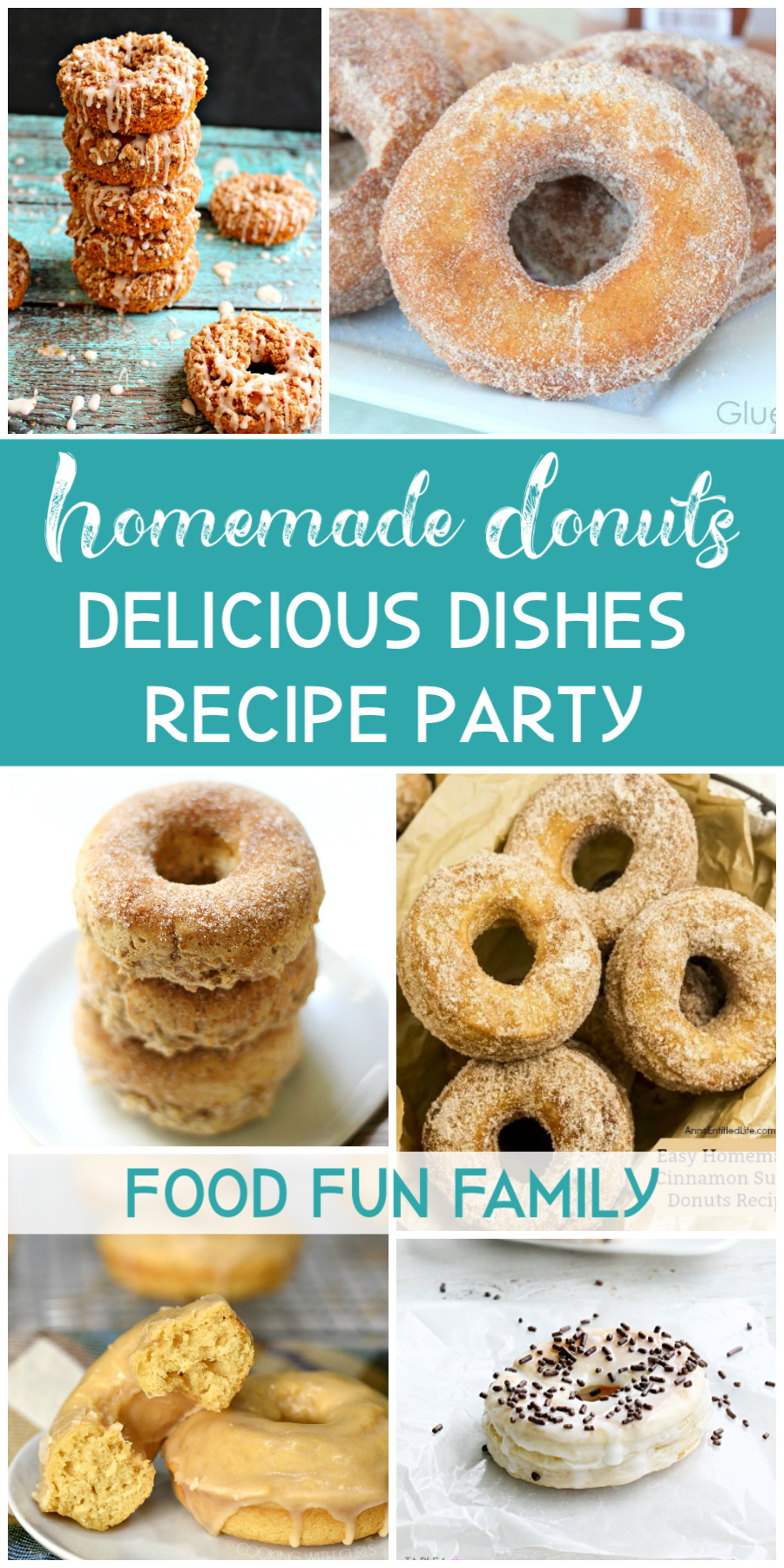 Homemade donuts - a Delicious Dishes Recipe Party with Food Fun Family