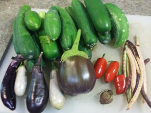 Part of one day's harvest in late summer