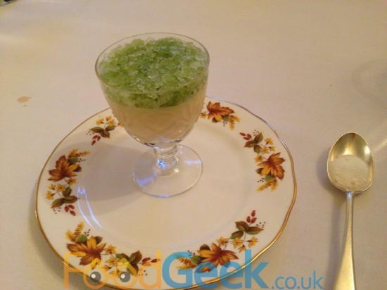 Grapefruit Posset & Celery Granita