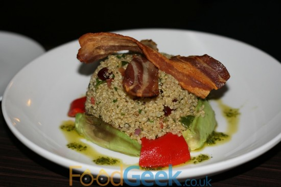 Quinoa & Avocado Salad (With Bacon)