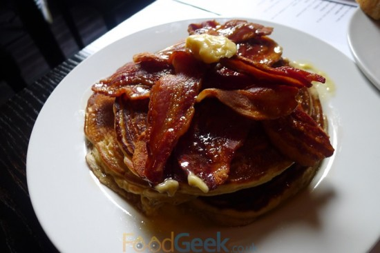 Buttermilk Pancakes with Bacon & Whipped Maple Butter