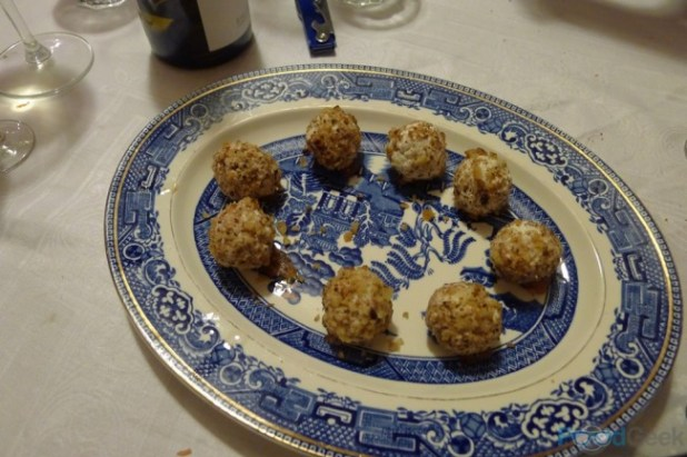 Goats Cheese & Walnut Balls with Membrillo