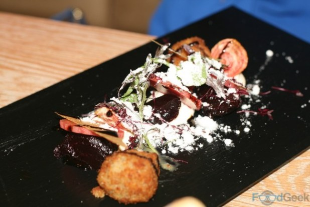 Warm Beetroot & Goat's Cheese Salad