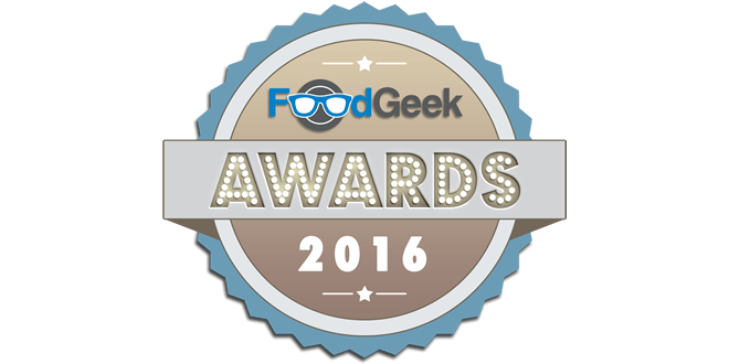 The Food Geek Awards – 2016