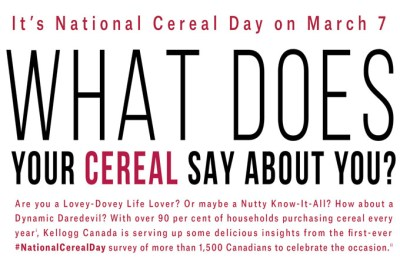 National Cereal Day is on March 7: What is Your Cereal ...