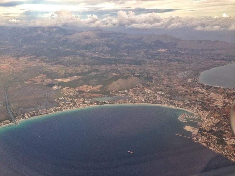 Flying into Palma de Mallorca