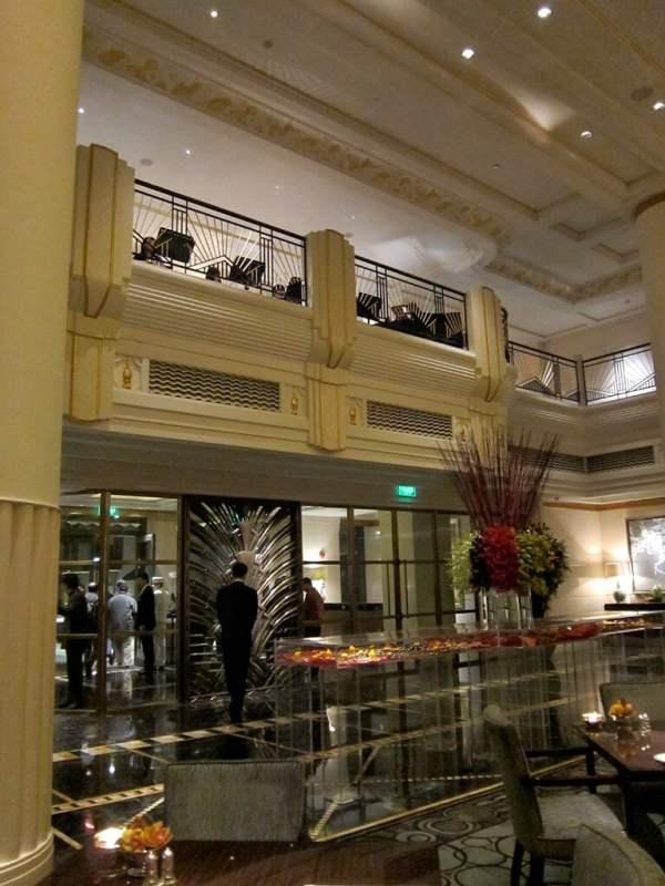Above the lobby entrance