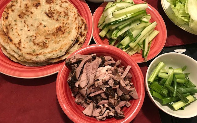 Five Spiced Lamb with Chinese Pancakes