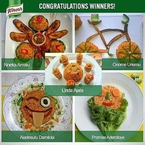 The last five winners of the knorr jollof rice competition