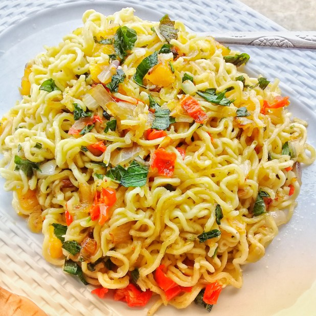 How to make the best noodle recipe with scentleaf and plantain