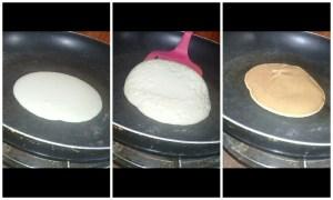 Frying pancake in pancake recipe