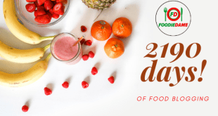 2190 days of food blogging