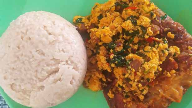 oatmeal swallow and egusi