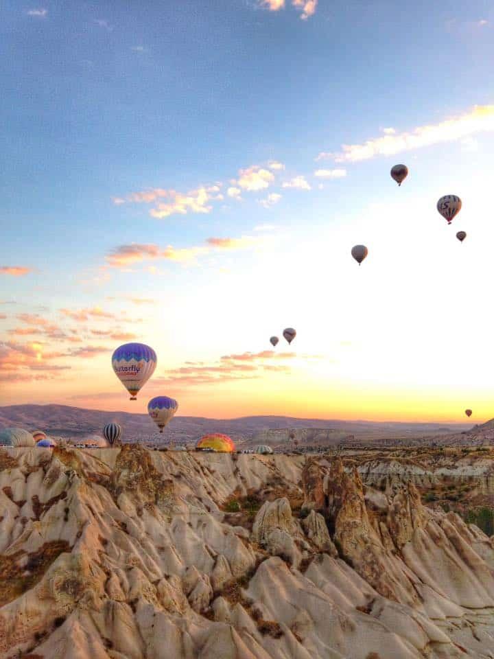 hot air ballooning Cappadocia, Turkey
