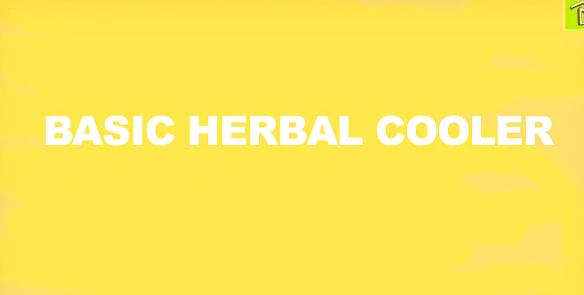 basic herbal cooler foodie gardener