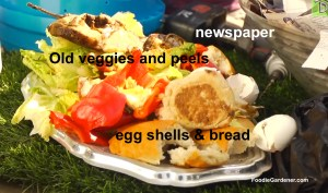 Foods materials for composting foodie gardener