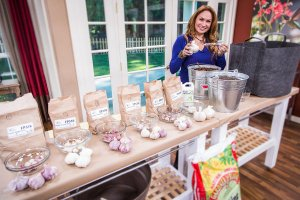 Foodie Gardener, Shirley Bovshow plants garlic on the Home and Family Show on Hallmark channel