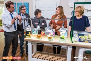 garden designer expert shirley bovshow teaches grow lights 101 on home and family show to host of revenge of the nerds and hosts mark steines cristina ferrare home and family show hallmark channel