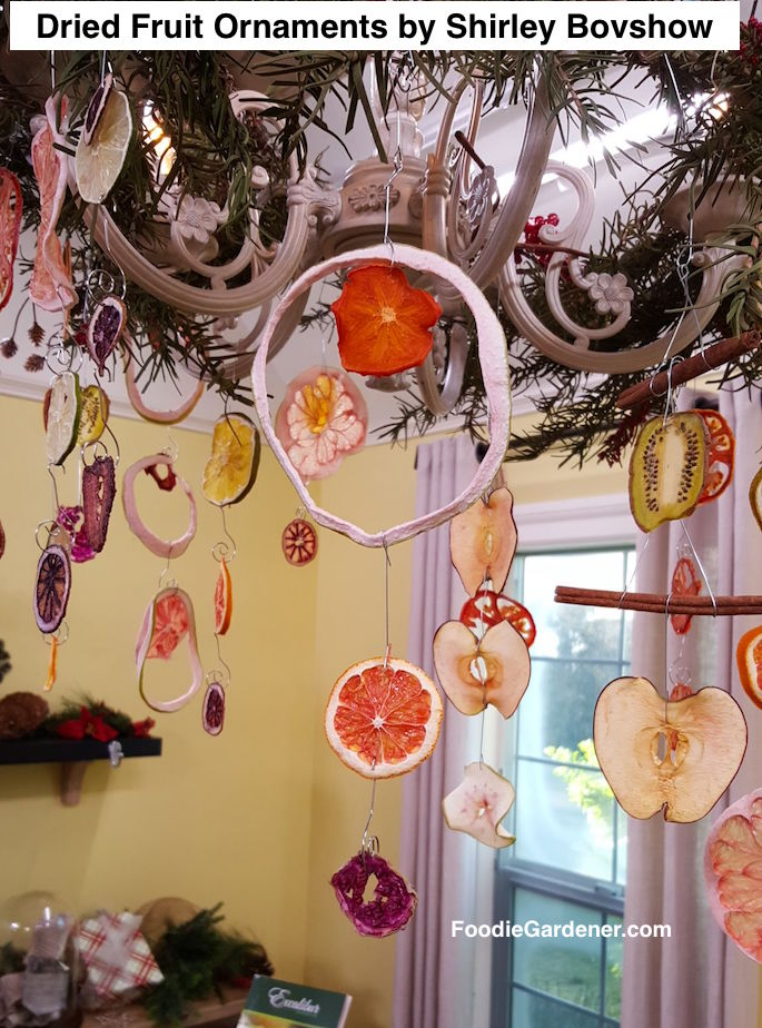 dehydrated-grapefruit-rind-ornament-dried-persimmon-dragnon-fruit-apples-blood-orange-kiwi-ornaments-from-chandelier-shirley-bovshow-foodie-gardener-blog