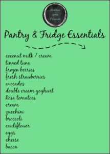 LCHF Pantry & Fridge Essentials