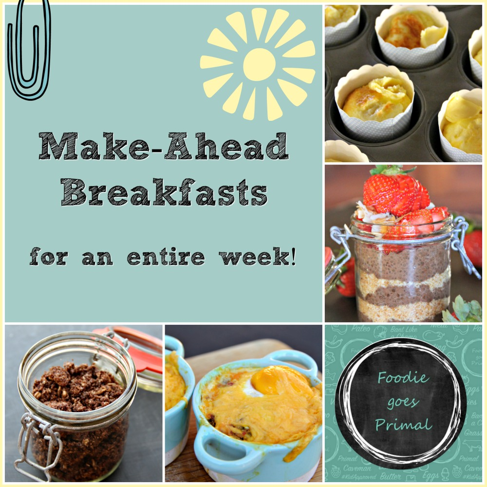 Make-Ahead LCHF Breakfasts For A Week!