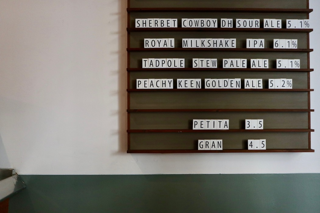 The menu board at Caravelle in El Raval