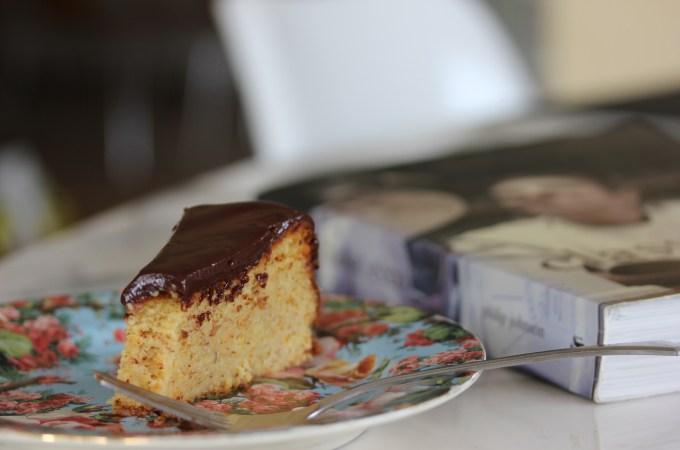 Gluten free orange and almond cake with chocolate ganache