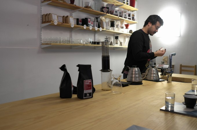 Jordi with some Square Mile coffee