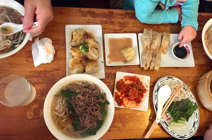 Some of the food we ordered at Mosquito