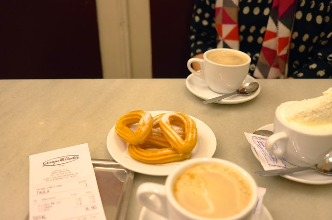 Coffee and churros at Granja Viader