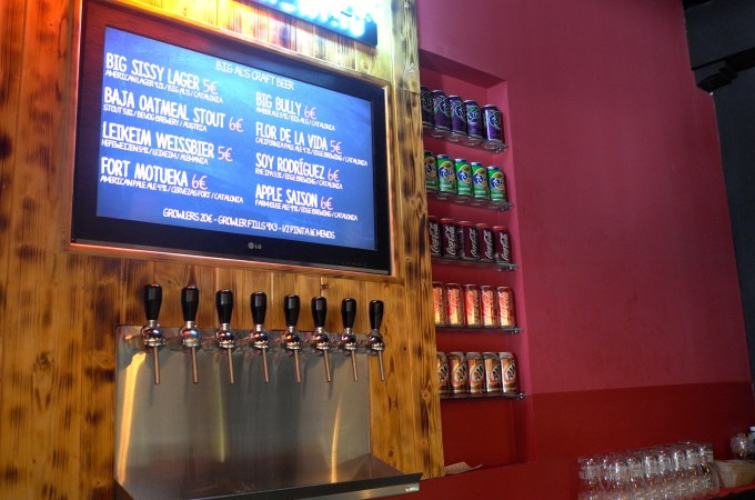 Craft Beer on tap at Big Al's