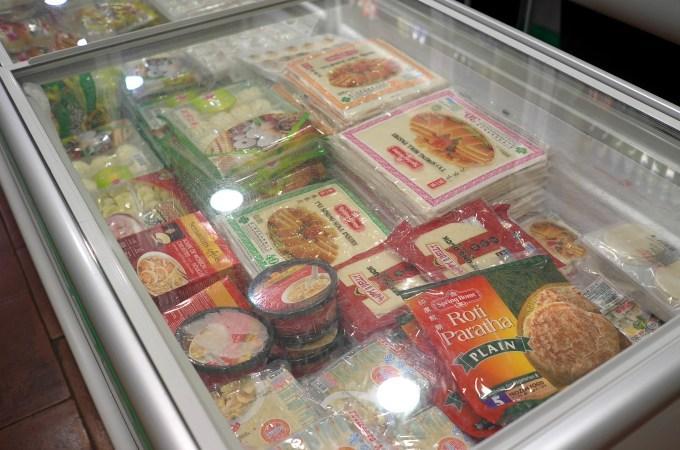 Frozen goods at Dong Fang Asian Supermarket Barcelona