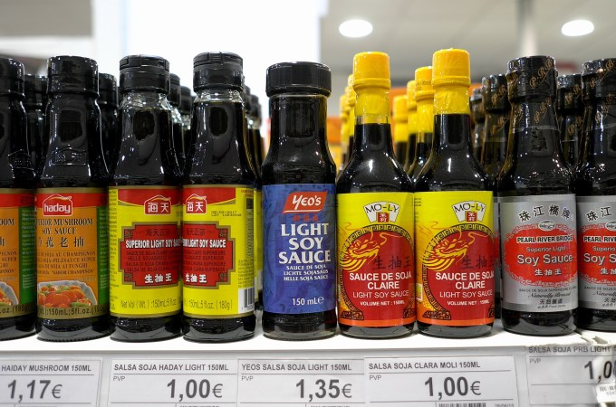 A range of soy sauce