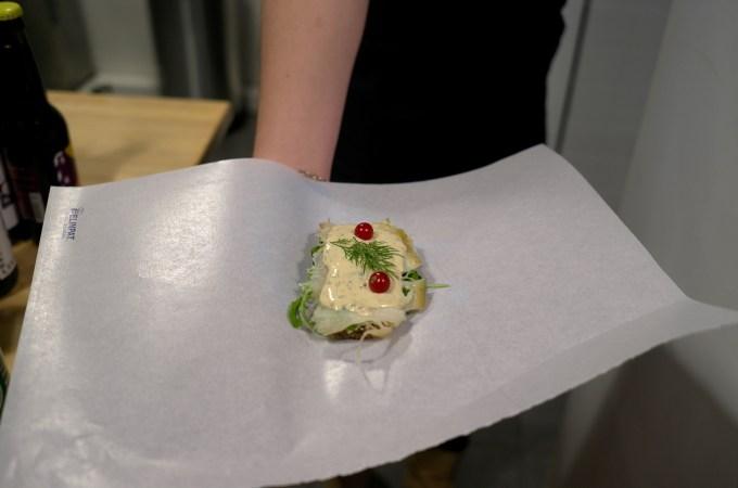 Halibut sandwich at Britta's