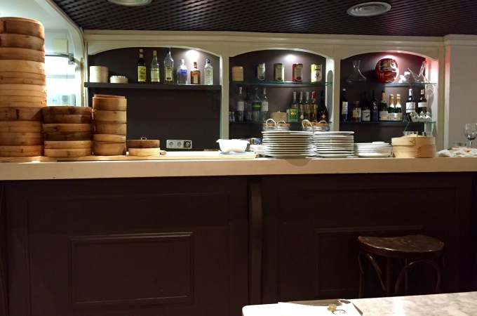The bar where they make the dumplings