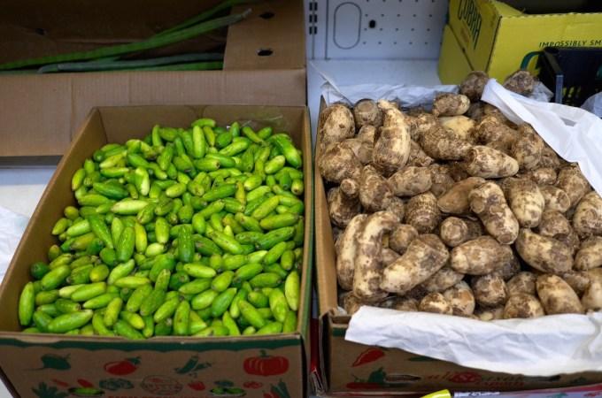 Fresh produce at J.K. Asian Foods